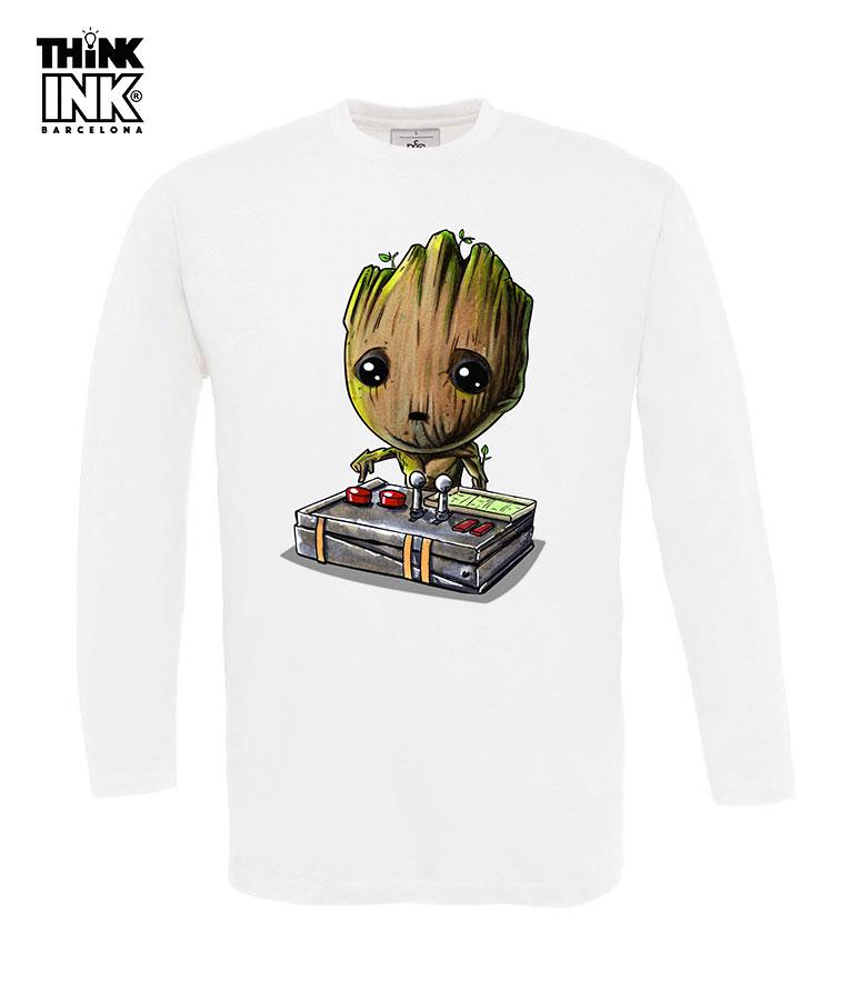 Baby Para Hombre Camiseta Groot Larga Manga edoBCx