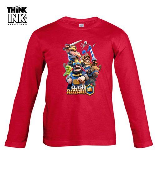 Camiseta manga Larga Clash Royale Clasicos