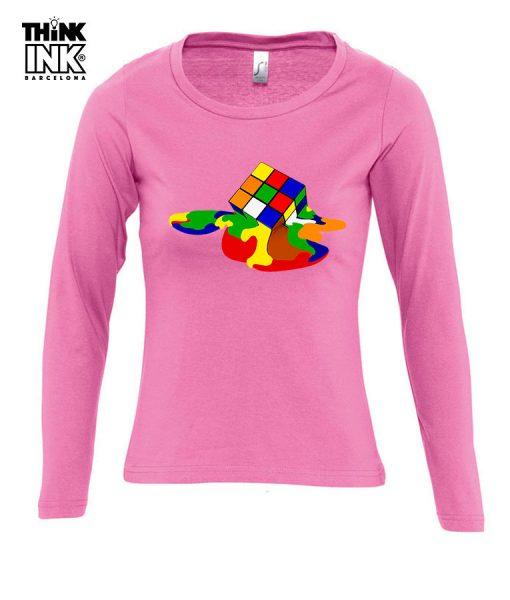 Camiseta manga larga Cubo de Rubik