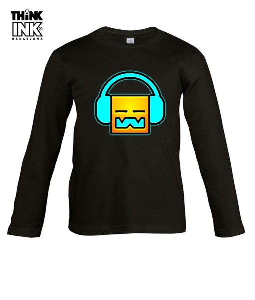 Camiseta manga Larga Geometry Dash