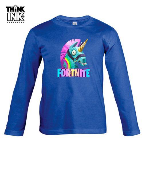 Camiseta manga Larga Fortnite unicornio