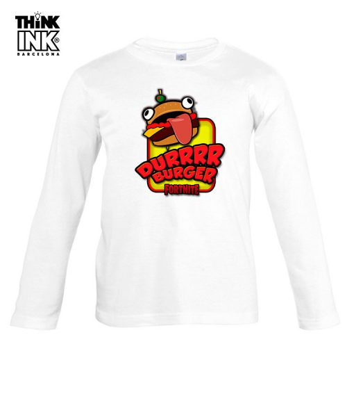 Camiseta manga Larga Fortnite Durrburguer