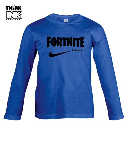 Camiseta manga Larga Fortnite logo Nike