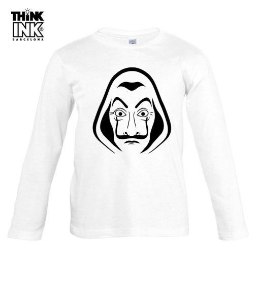 "Camiseta manga Larga La casa de papel ""Mascara"""