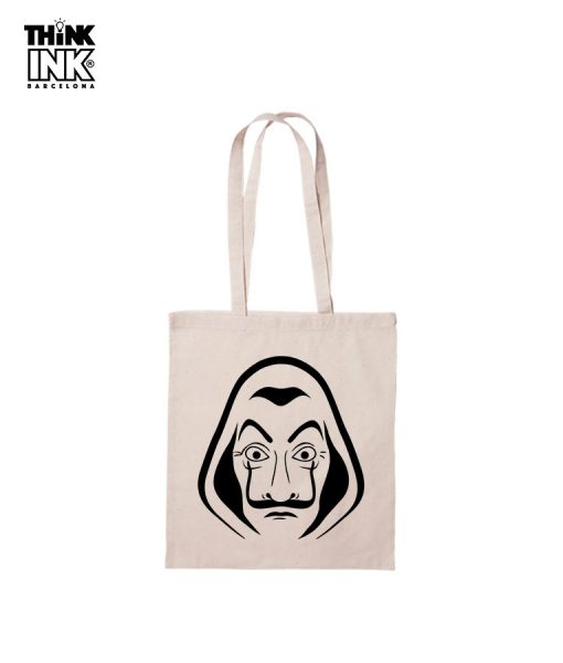 "Tote Bag La casa de papel ""Mascara"""