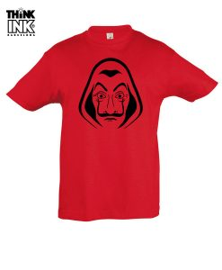 "Camiseta manga corta La casa de papel ""Mascara"""