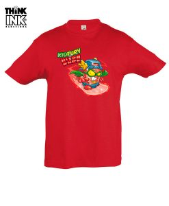 Camiseta manga corta Superzings Kid Fury surfeando
