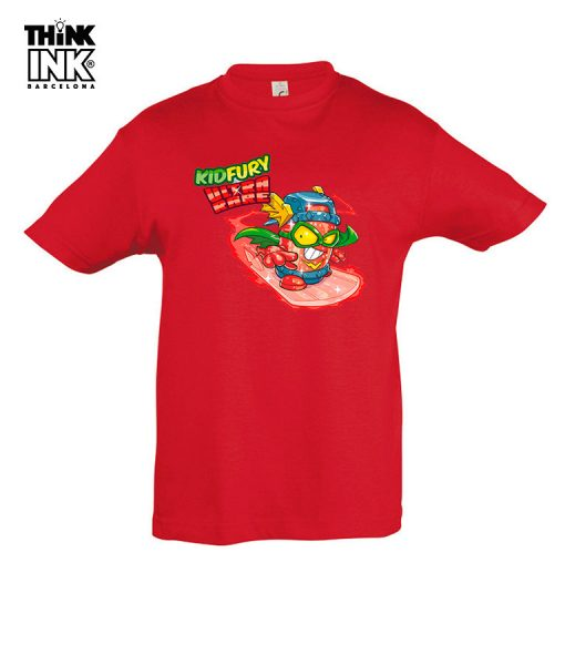 Camiseta manga corta Superzings Kid Fury surfeando
