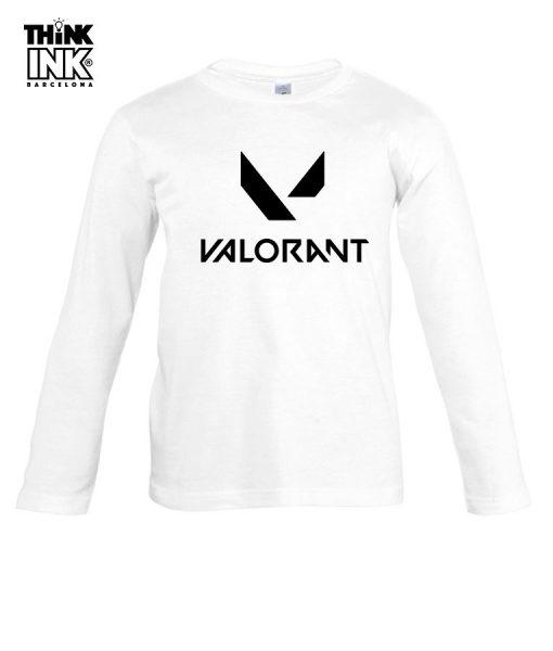 Camiseta manga Larga Valorant Logo