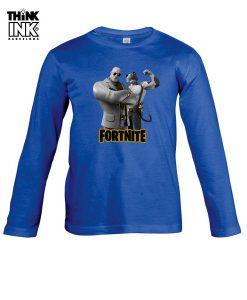 Camiseta manga Larga Fortnite Brutus y Miausculos