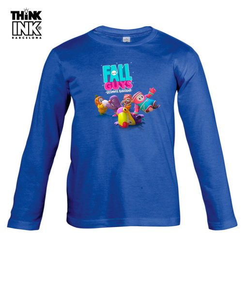 Camiseta manga Larga Fall Guys