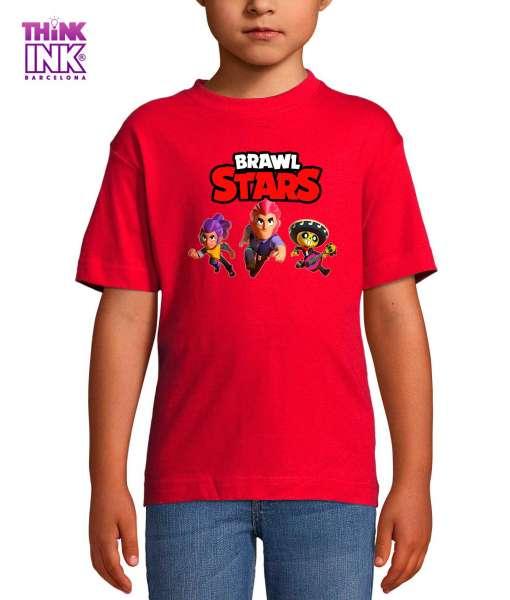Camiseta manga corta Brawl Stars grupo