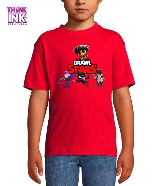 Camiseta manga corta Brawl Stars personajes