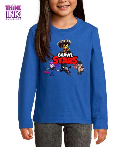 Camiseta manga Larga Brawl Stars personajes